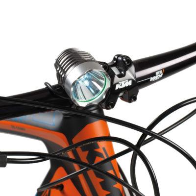 Luce led per bici casco